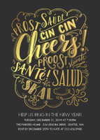 Cheers Foil Invitation by Lily & Val