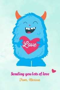 Monster Valentine's Day Heart by Pennie Post