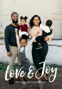 Love & Joy Brush Lettering