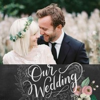Chalkboard Wedding by Lily & Val