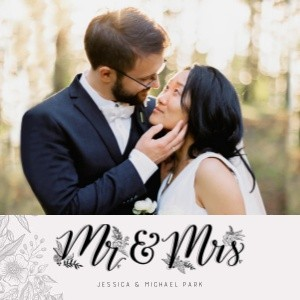 Mr and Mrs Wedding by Lily & Val