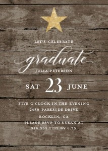 Star Graduate Invitation