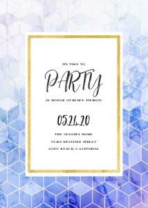 Geometric Party Invite