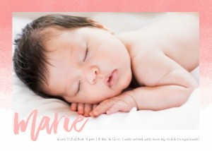 Ombre Color Baby Announcement