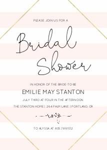 Pink Stripes Bridal Shower