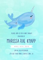 Narwhal Baby Shower