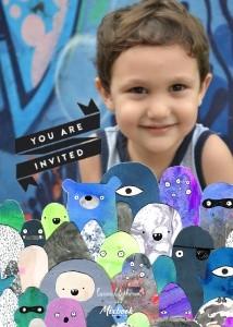 Monster Invitation by Laura Blythman