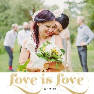 White and Gold LGBT Wedding
