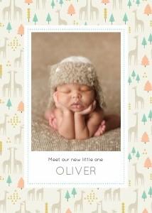 Baby Giraffe Pattern by Elizabeth Olwen