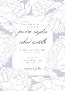Purple Peonies Wedding