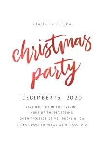 Hand-lettered Christmas Party