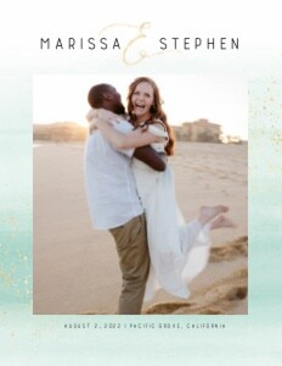 Modern Beach Wedding