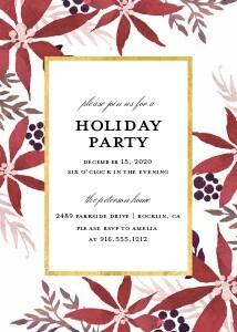 Watercolor Poinsettias Invitation