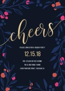 Navy Merry & Bright Invite