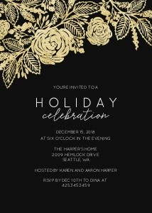 Floral Holiday Party