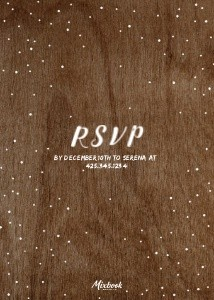 Rustic Holiday Invitation