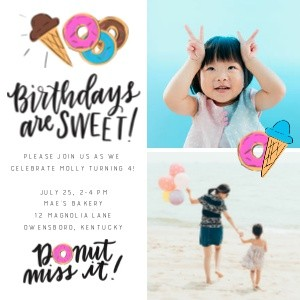 Donut Birthday Party by Renmade Calligraphy