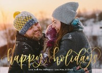 Happy Holidays by Letters by Shells