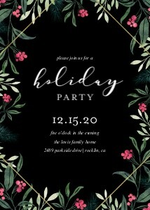 Black Foliage Holiday Party
