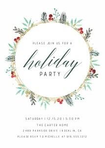 Foil Wreath Foliage Invitation