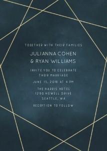 Geometric Navy Wedding