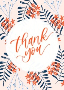 Floral Thank You by the Pigeon Letters