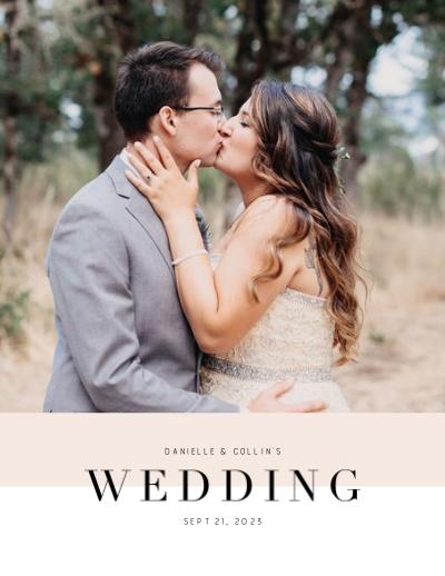 Soft Color Block Wedding