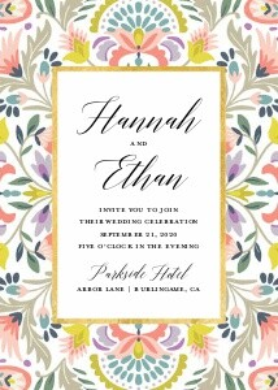 Floral Pattern Wedding