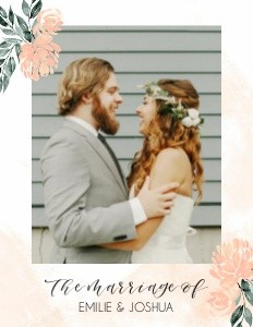 Peach Florals Wedding by the Pigeon Letters