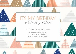 Birthday Geometrics by Cathy Nordstrom