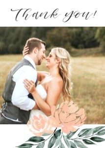 Peach Wedding by the Pigeon Letters
