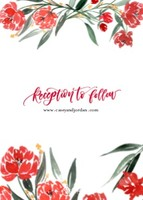 Red Watercolor Wedding by the Pigeon Letters