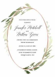 Foil Oval Wreath