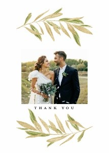 Foil Olive Leaf Wedding