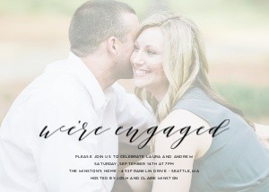 We're Engaged