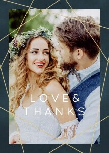 Geometric Navy Wedding