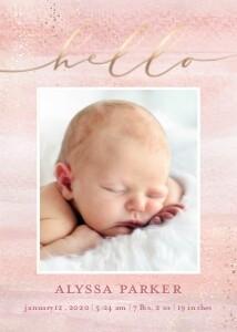 Hello Baby Watercolor