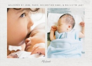 Blessed Birth Announcement