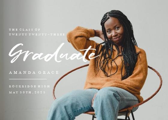 Full Photo Typography Graduate