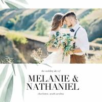 Watercolor Greenery Wedding