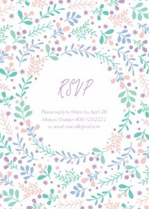 Spring Wreath Invitation by Pennie Post