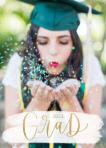 Grad Announcement by Letters by Shells