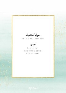 Watercolor Rehearsal Dinner Invitation