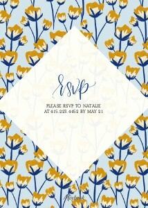 Floral Party Invitation by The Pigeon Letters