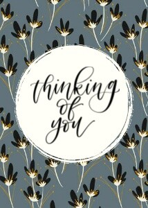 Thinking of You Notecard by the Pigeon Letters