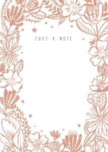 Foil Floral Notecard by Hello!Lucky