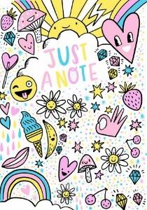 Hand-drawn Emoji Notecard by Hello!Lucky