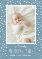 Blue Sky Baby Announcement by Cathy Nordstrom