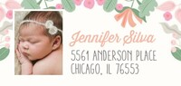 Happy Floral Baby Announcement by Cathy Nordstrom