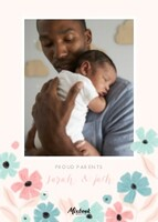 Pastel Floral Baby Announcement by Cathy Nordstrom